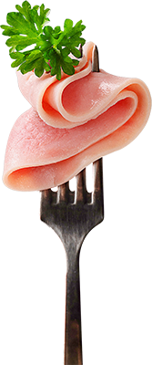 Fork with meat
